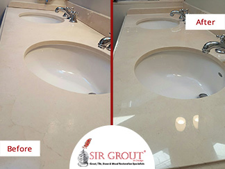 Before and After Picture of a Honing and Polishing Service in Lincoln Park, IL