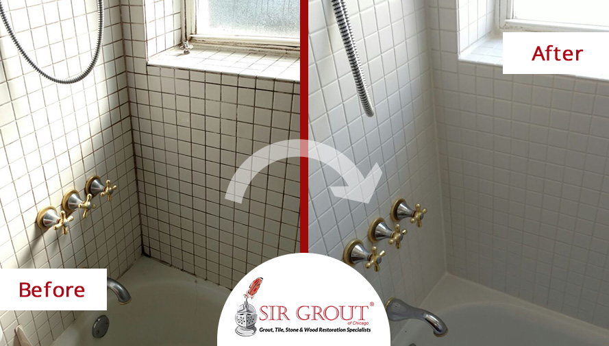 A Fresh Start A Grout Cleaning Service Renewed This White Bathroom - Bathroom tile cleaning service