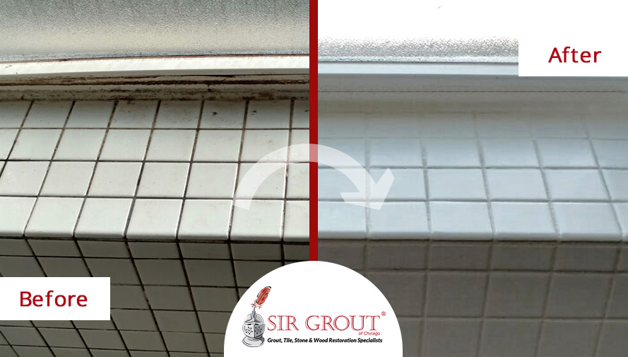 A fresh start a grout cleaning service renewed this white for How to make grout white again