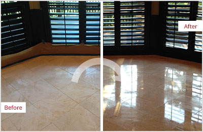 Sir Grout Chicago Tan Marble Stone Honing and Polishing
