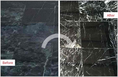 Sir Grout Chicago Black Marble Stone Honing and Polishing