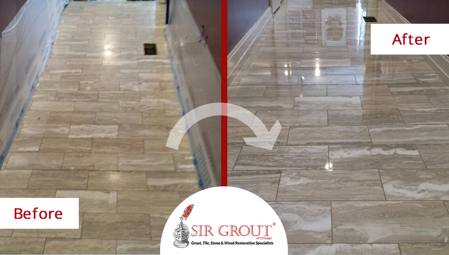 A Stone Honing And Polishing Service Gave This Onyx Marble Floor In - Marble floor shiner