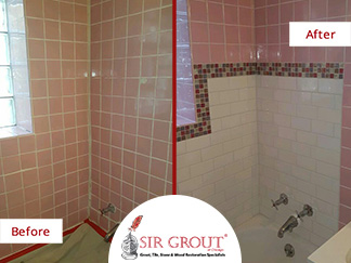 Before and After Picture of a Caulking Service in Lincoln Park, IL