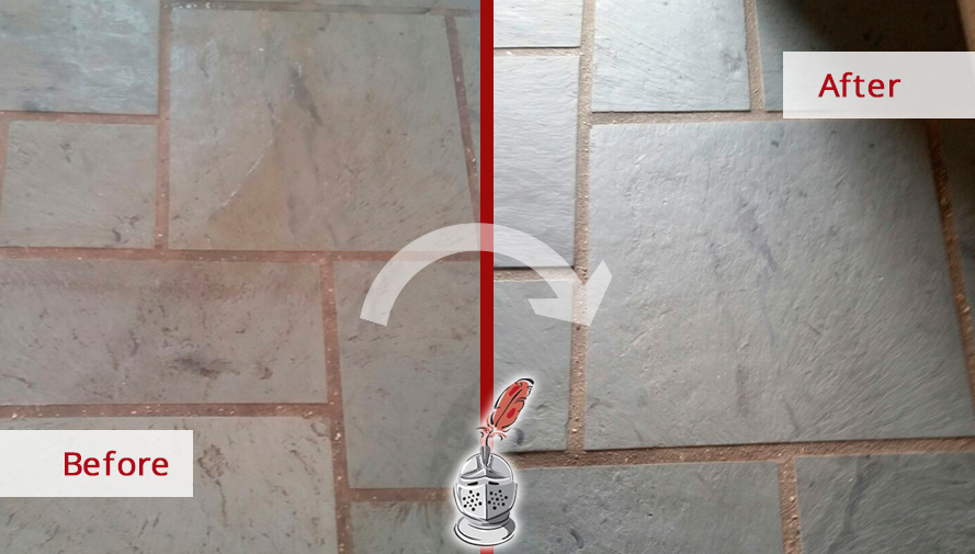 Before and after Picture of a Stone Sealing Job Done in Lake Forest, IL