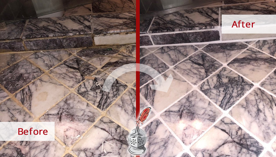 Before and after Picture of This Tile and Grout Cleaning Job in Chicago, Illinois That Gave a Beautiful Appearance to This Shower